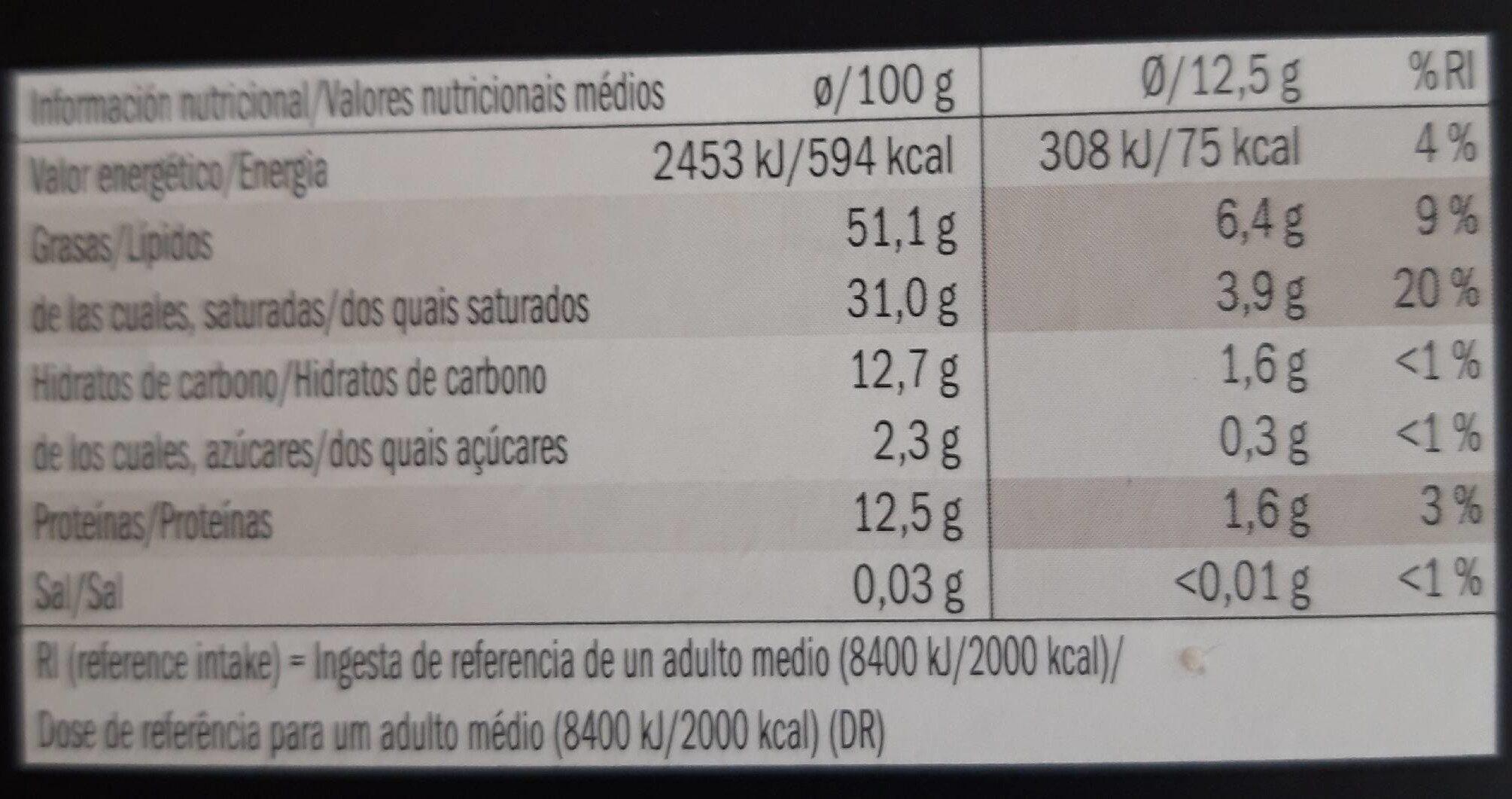 Chocolate negro Lidl 95% cacao - Información nutricional - fr
