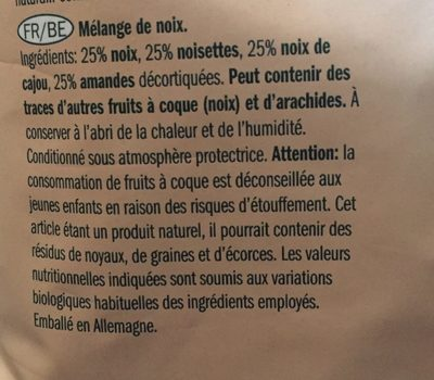 Mixed Nuts - Ingredientes - fr