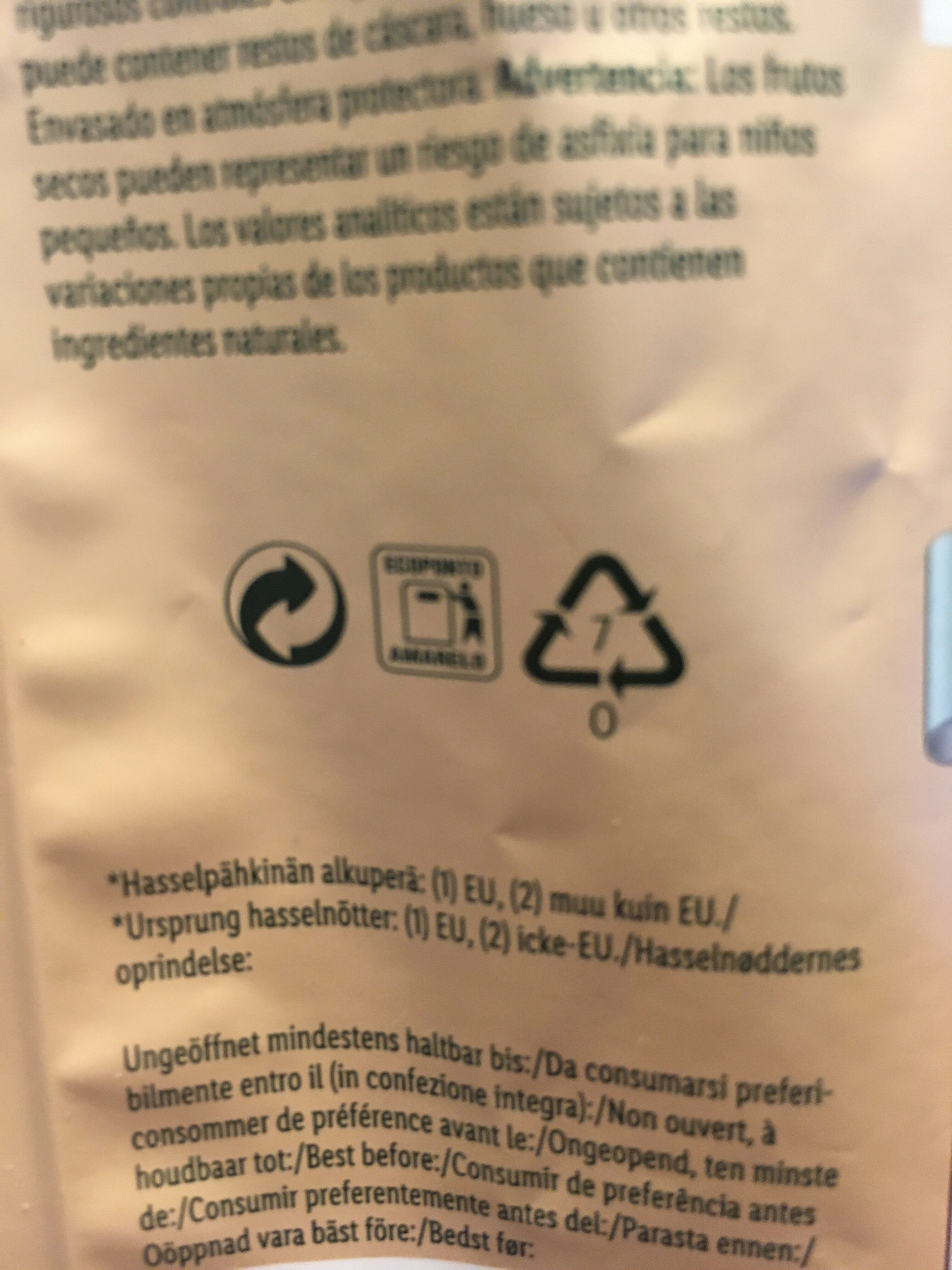 Mixed Nuts - Recycling instructions and/or packaging information - fr