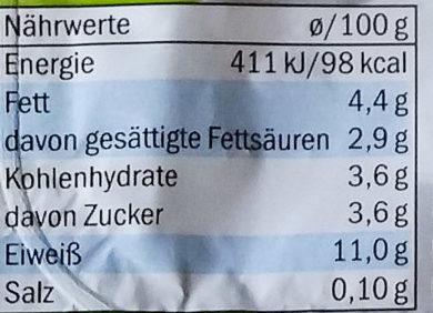 Speisequark 20% Fett i. Tr. - Nährwertangaben