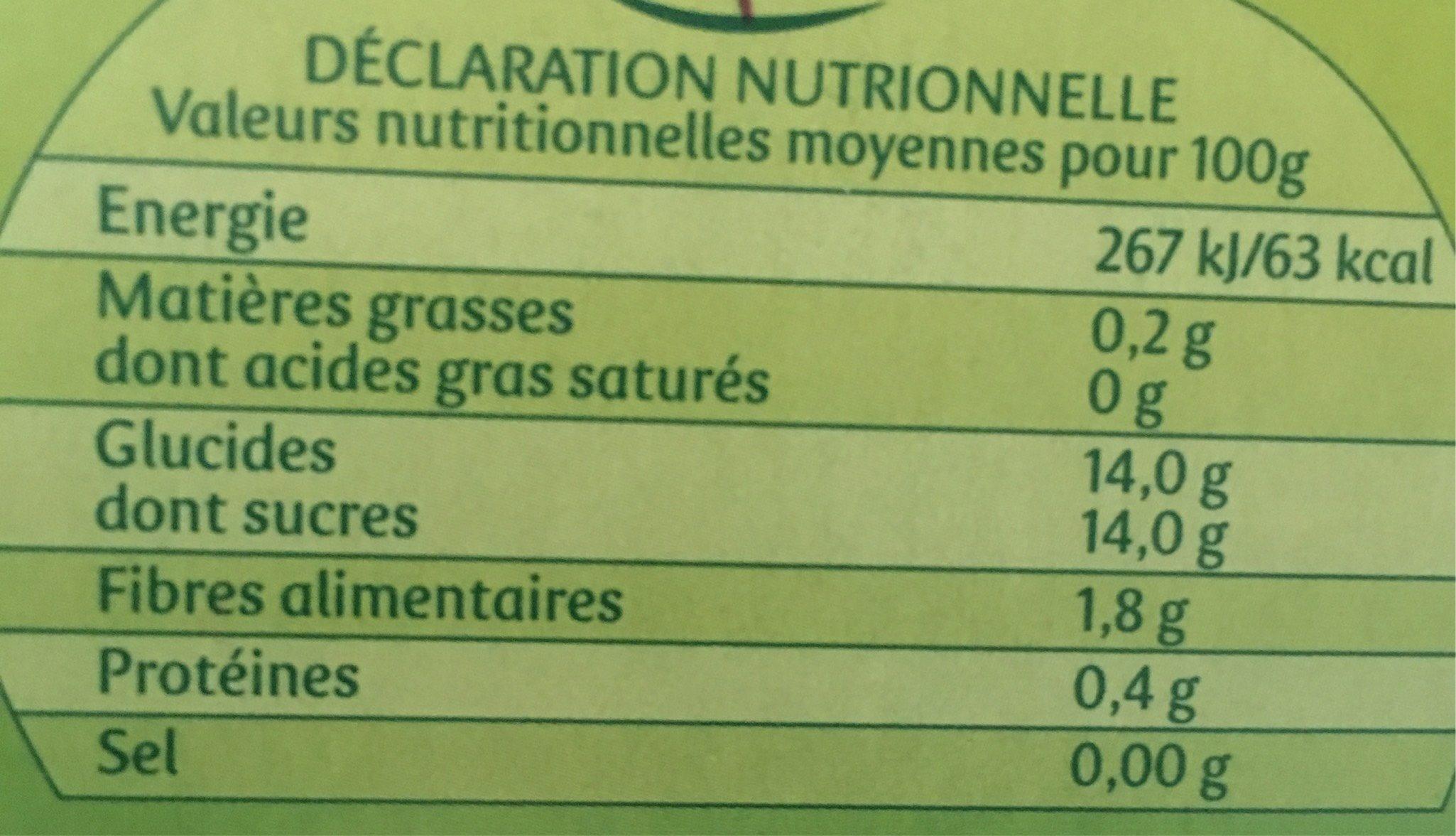 Pom&Go - Voedingswaarden - fr