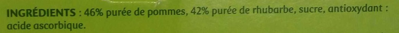 Compote Pomme Rhubarbe - Ingrédients