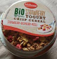 Yogur de fresa con cereales de fresa y frambuesa - Produit