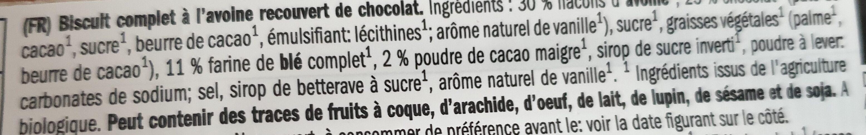 Dark chocolate oatmeal cookies - Ingrédients - de