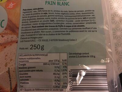 gluten free bread - Produit - fr