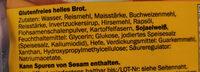 Glutenfreies helles Brot - Składniki - de