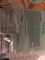 Pain blanc sans gluten LIDL - Ingredients