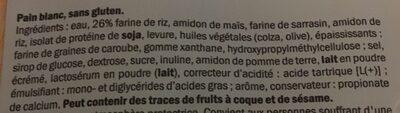 gluten free bread - Ingrédients - fr