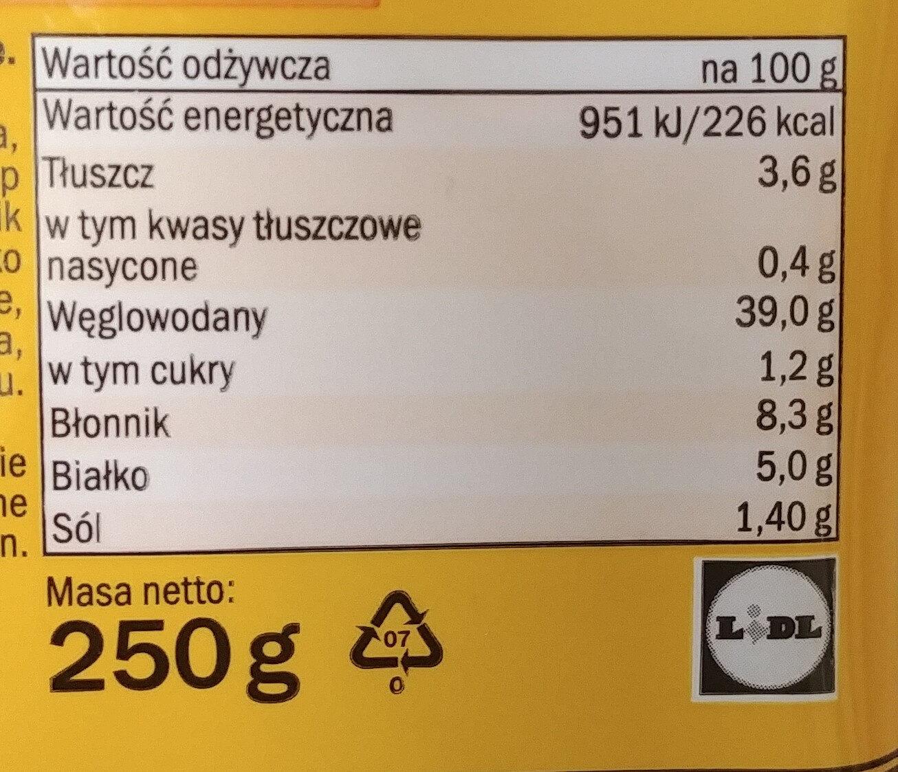 Glutenfreies helles Brot - Wartości odżywcze - pl