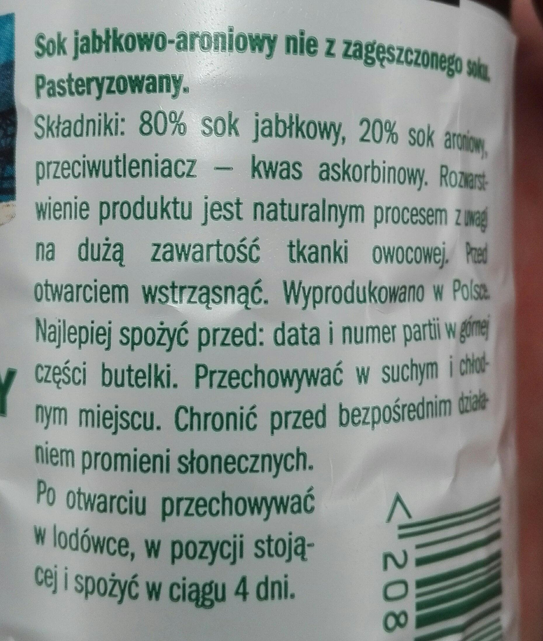 sok tłoczony - Składniki - pl