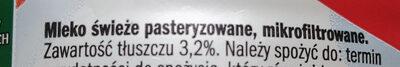 Mleko świeże 3,2% - Ingredients - pl