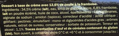Panna cotta al lampone - Ingrédients - fr