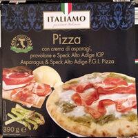 Pizza asparagi, provolone e speck - Produit - fr