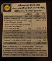 Pizza Crème d'asperge, Provolone et Speck - Informations nutritionnelles - fr