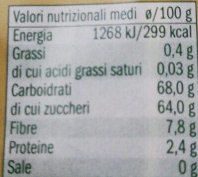 Datteri di Tunisia - Informations nutritionnelles - fr