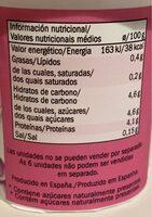 Linea natural 0 % - Información nutricional - es