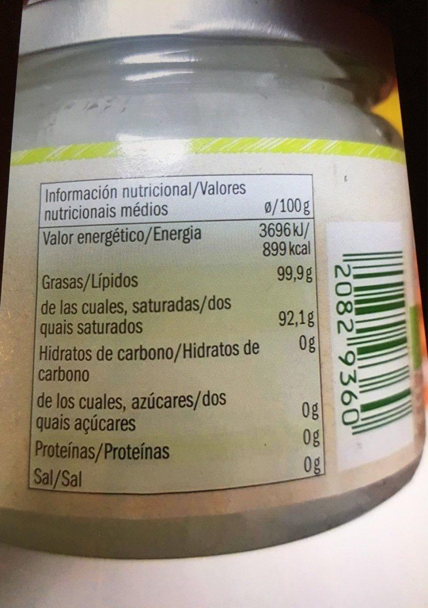 Aceite de coco - Ingrediënten