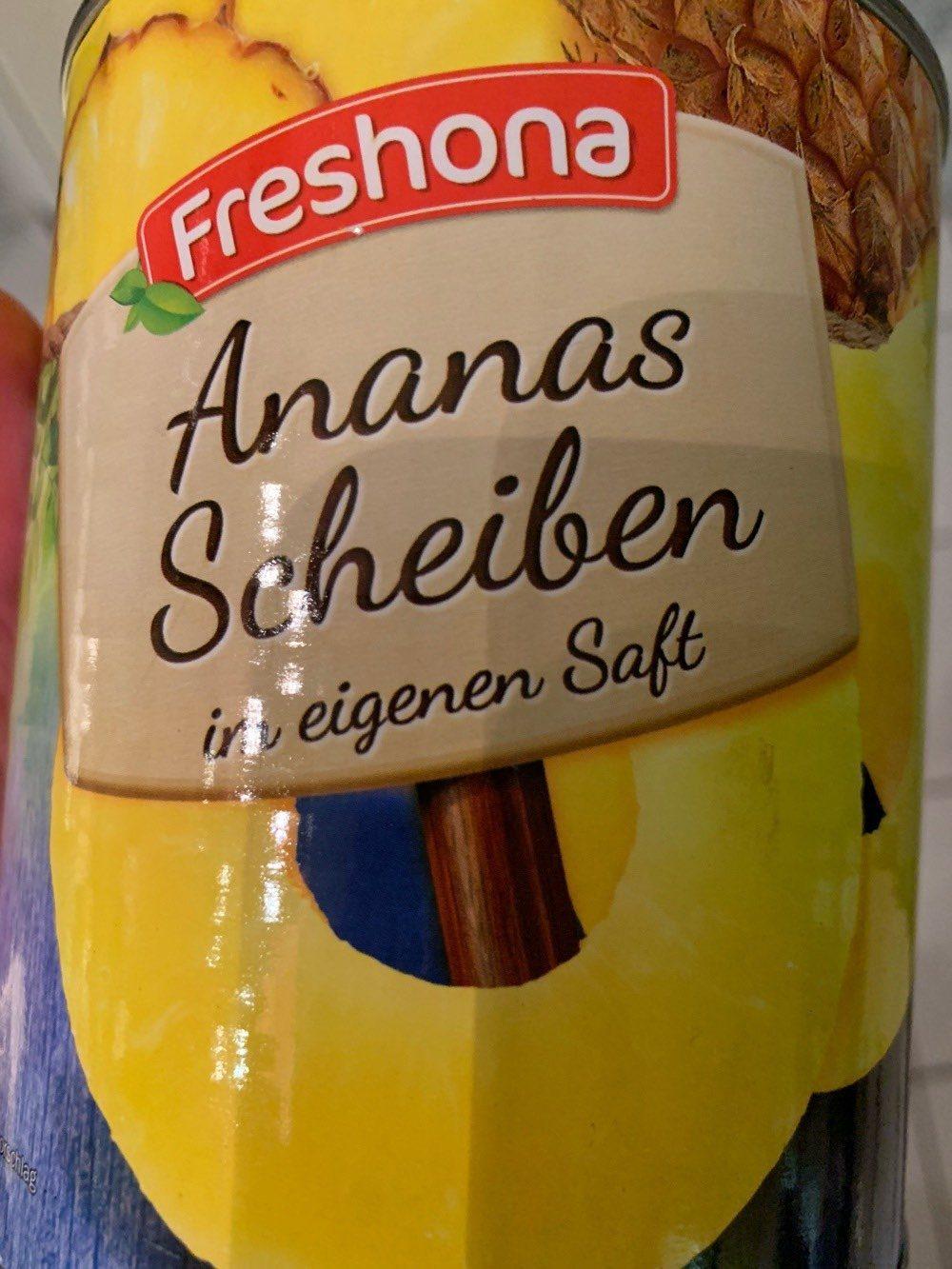 Ananas Scheiben in eigenen Saft - Produit - de