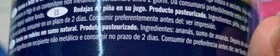 Ananas Scheiben in eigenen Saft - Ingredientes
