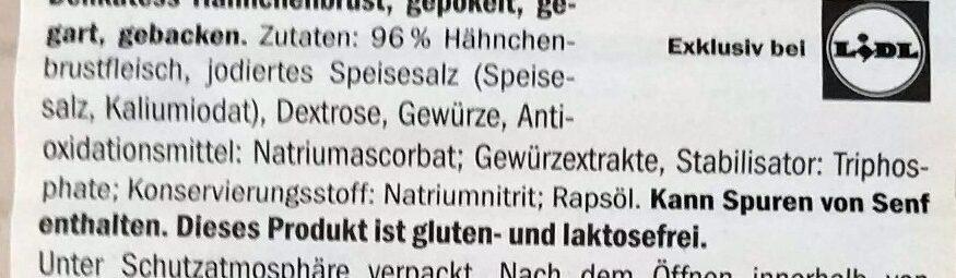 Hähnchenbrust - Ingredients - de