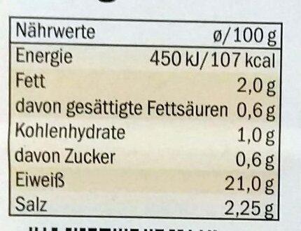 Hähnchenbrust - Nutrition facts - de