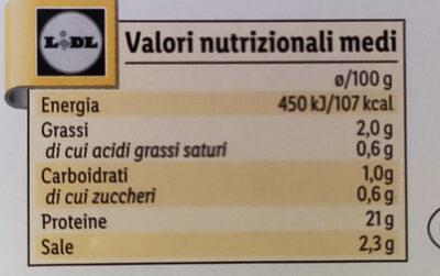 Delikatess Hähnchenbrust - Valori nutrizionali - it
