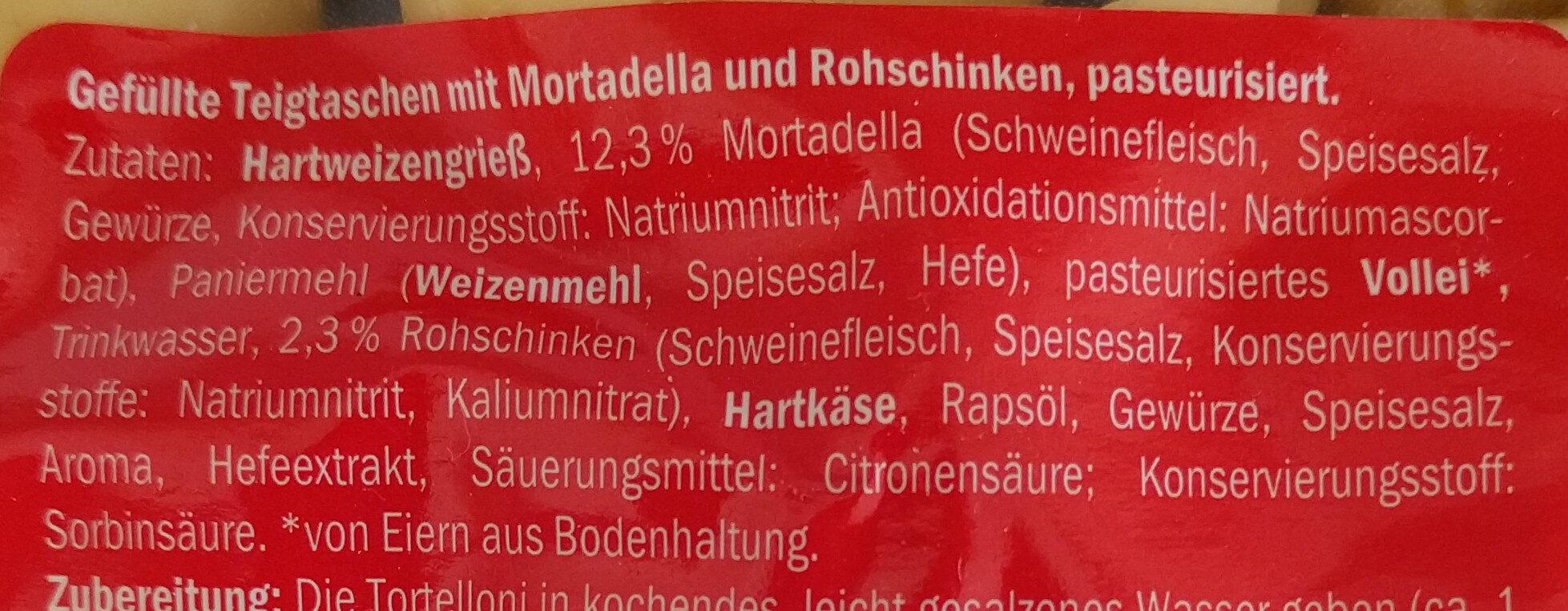 Tortelloni prosciutto - Zutaten - de