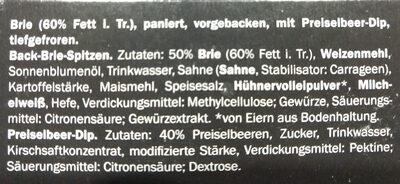 back brie spitzen - Ingredients