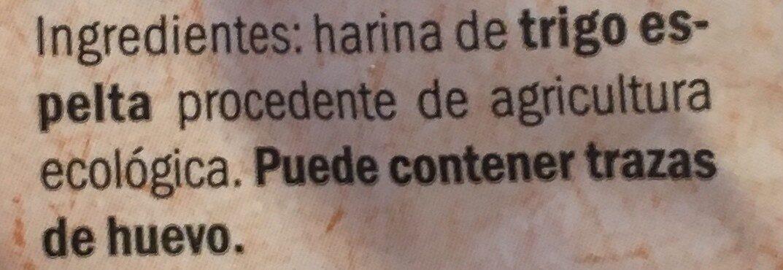 Espelta Penne Rigate - Ingrédients