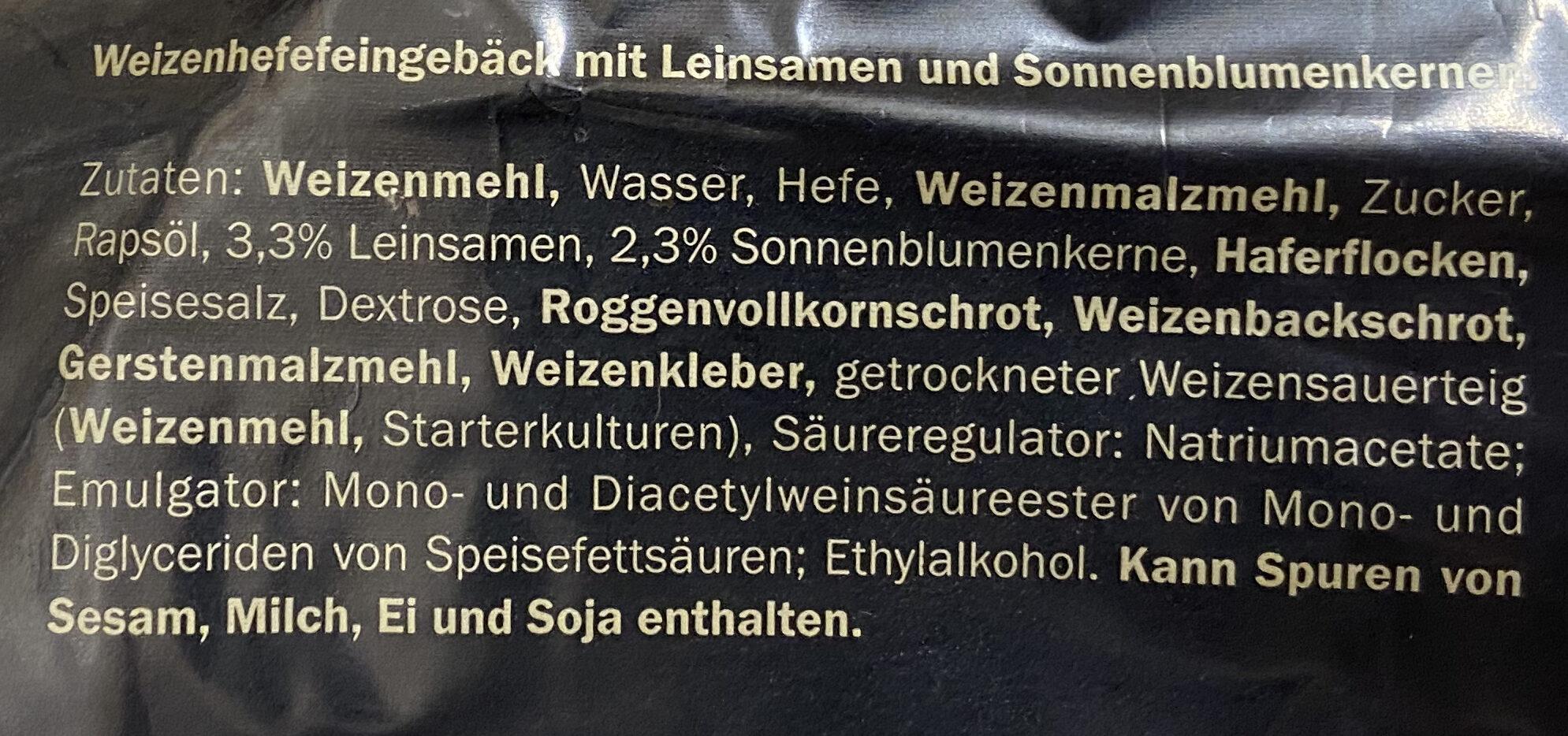 Hamburger Brötchen - Ingredients - de