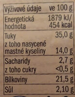 Vysočina - Informations nutritionnelles - cs