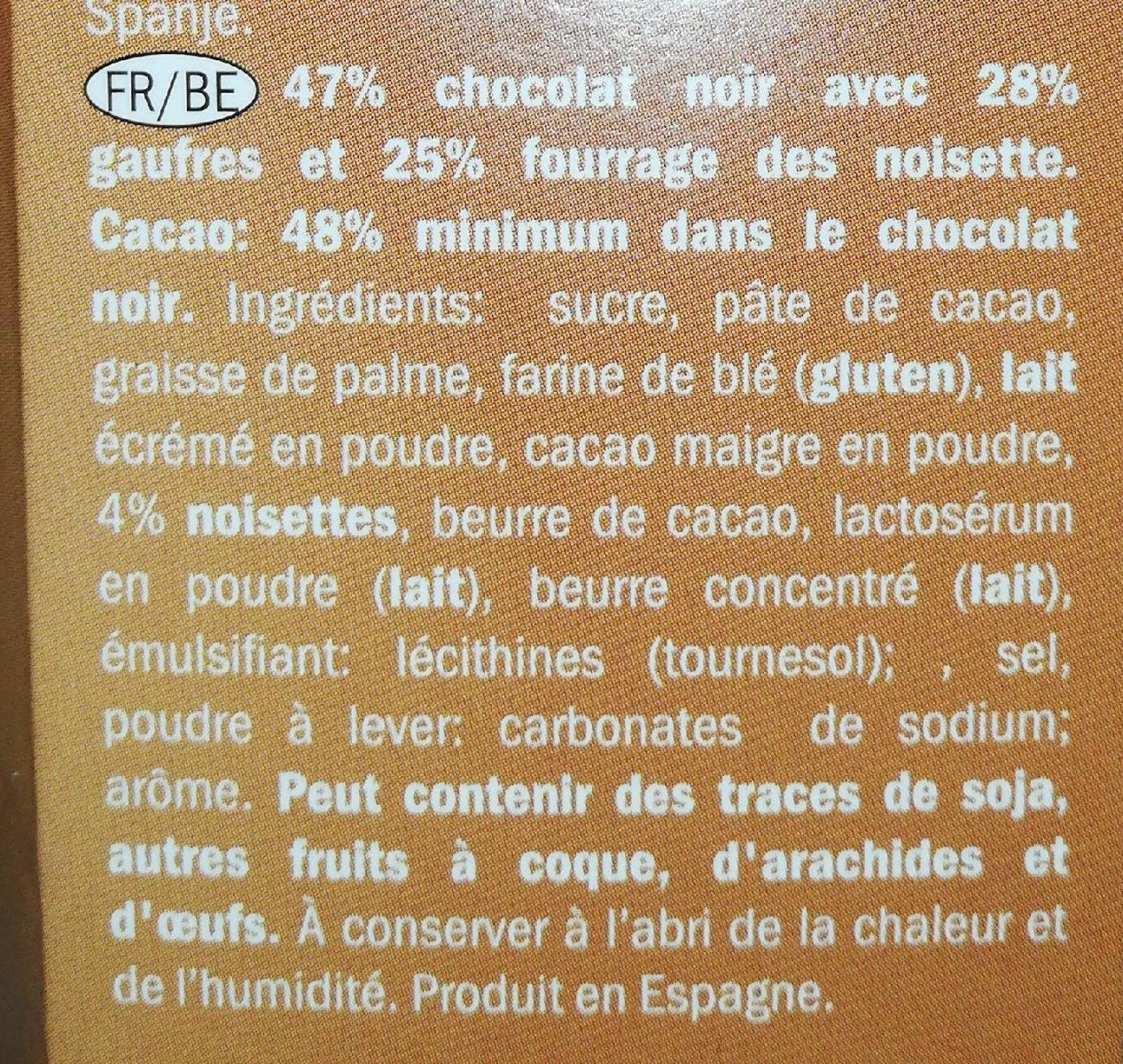 Knuspo dark chocolate - Ingrédients - fr