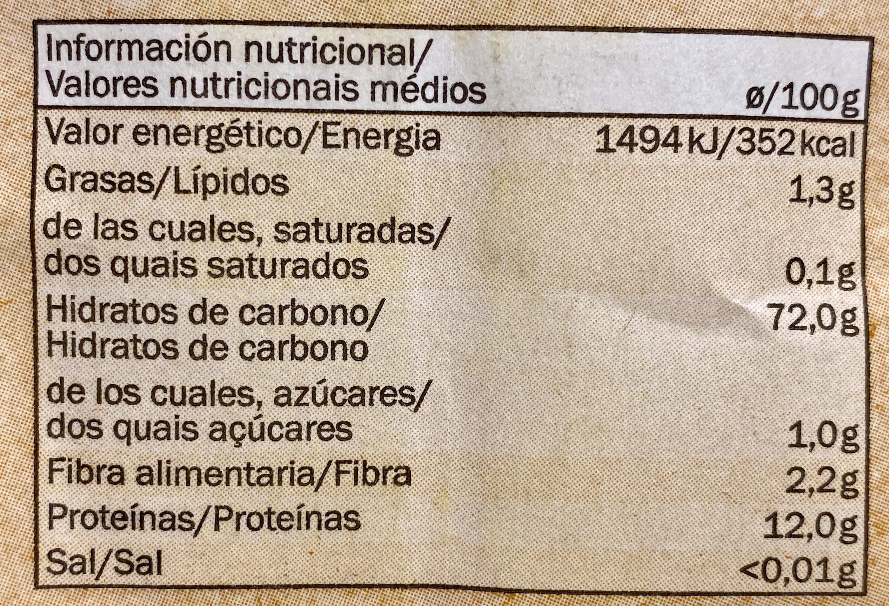 Dinkelmehll Type 630 - Información nutricional - es