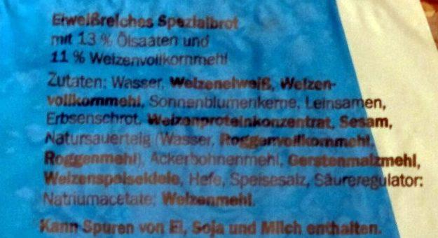 Eiweiß Brot - Inhaltsstoffe - de