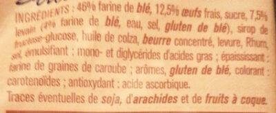 Brioche tranchée  au levain - Ingrédients - fr