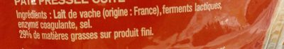 Emmental français Râpé - Ingrediënten - fr