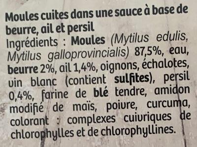 Moules cuisinées Beurre, Ail et Persil - Ingredients - fr