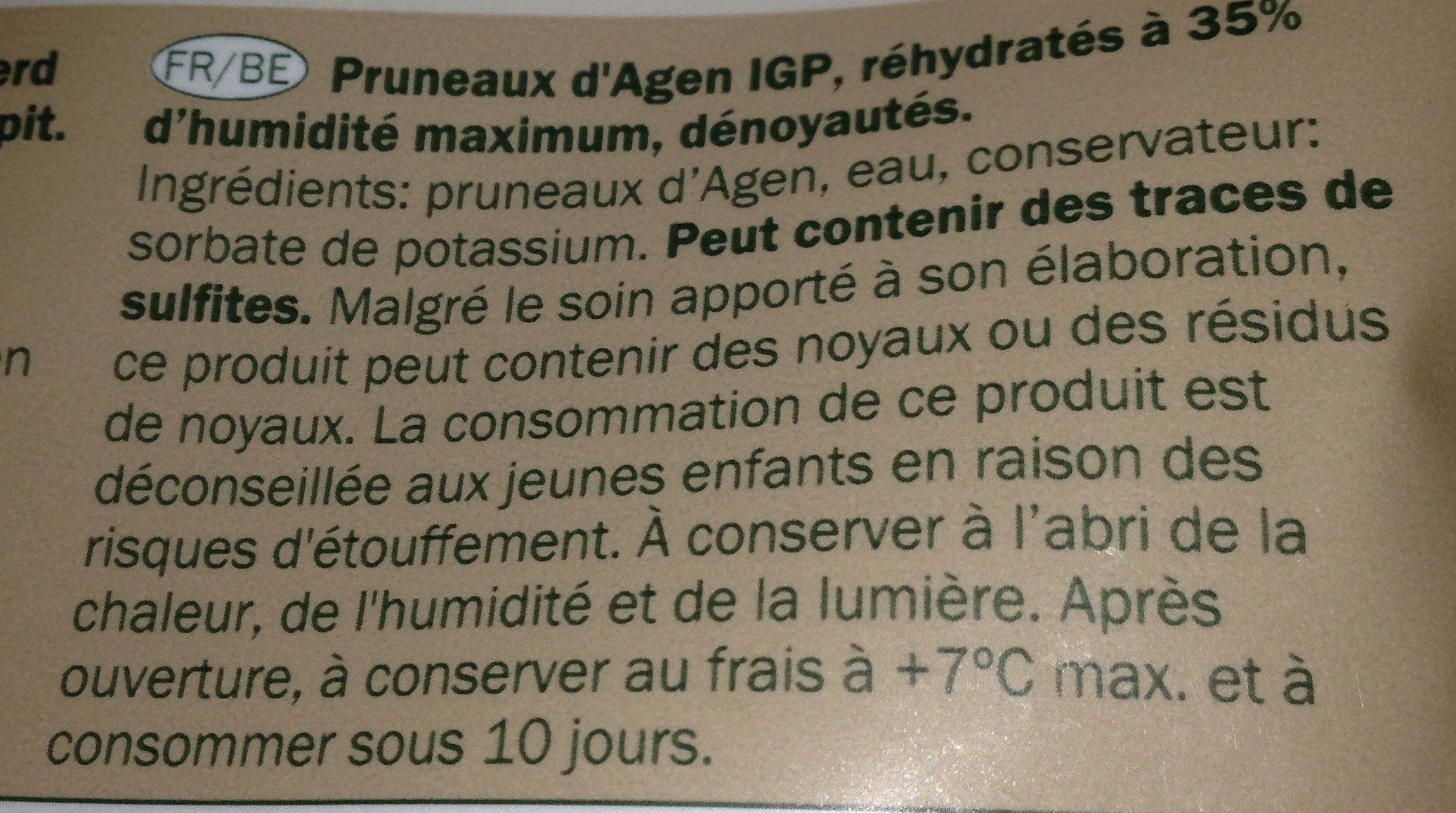 French Prune Seedless - Ingredienti - fr