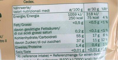 French Prune Seedless - Valori nutrizionali - fr