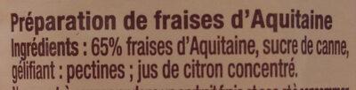 Fraises d'Aquitaine - Ingrédients - fr