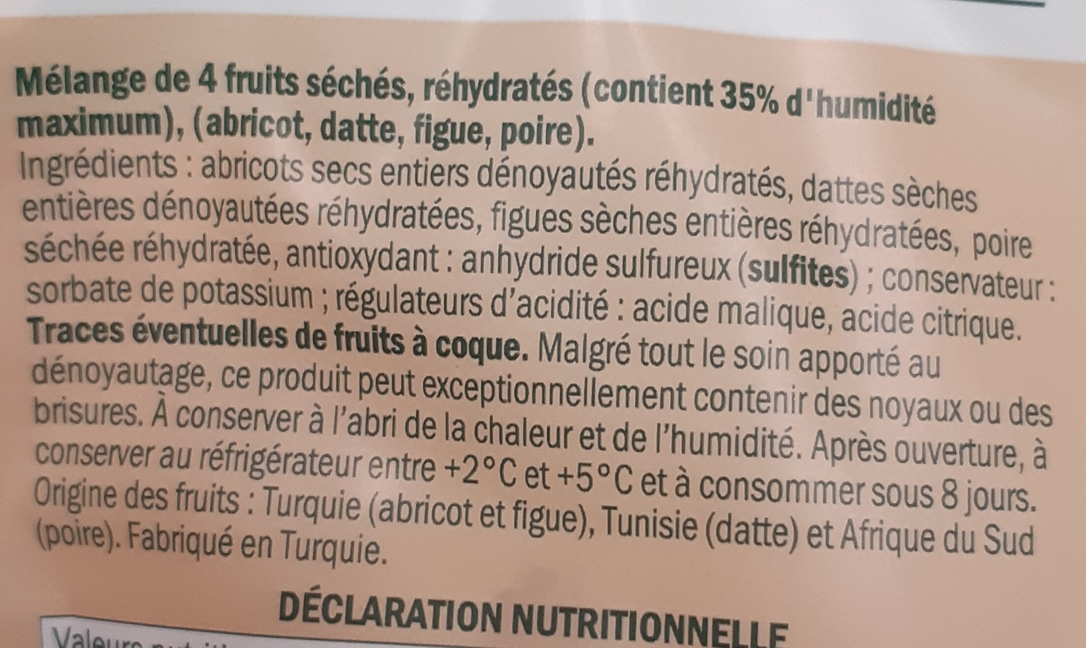 Mélange fruits moelleux - Ingredienti - fr