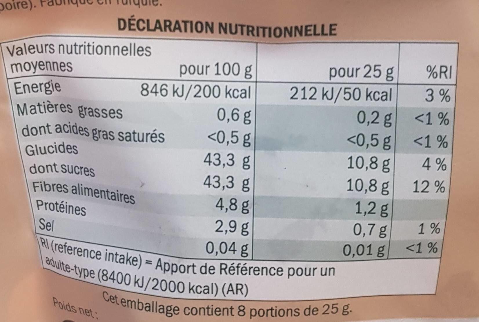 Mélange fruits moelleux - Informazioni nutrizionali - fr