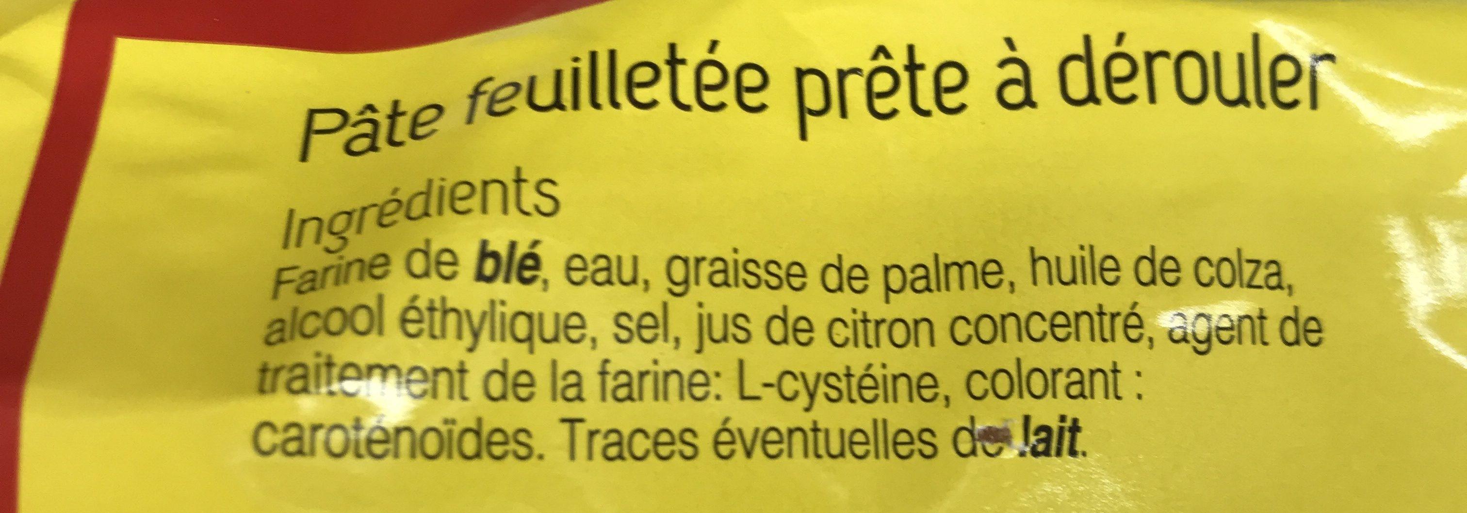Pate feuillete - Ingrédients - fr