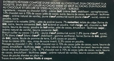 Croustillant Chocolat Noisette - Ingredienti - fr
