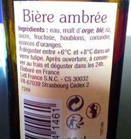 Bière ambrée - Product