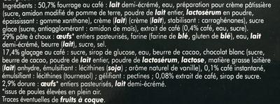 Les Surgelés - Éclairs Café - Ingrédients