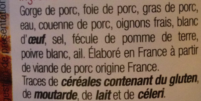 Paté de campagne breton - Ingrediënten