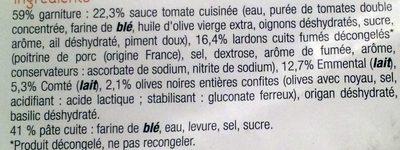 Pizza aux Lardons et Comté - Ingrediënten