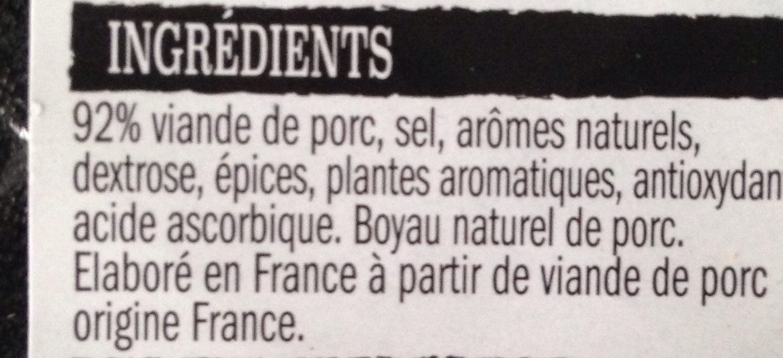Saucisse de Toulouse Brasse - Ingrediënten - fr