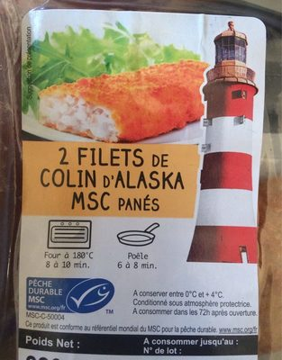 Filets Colin d'alaska Panés - Produit